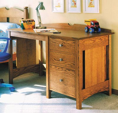 Kid's Oak Desk Woodworking Plan, Furniture Desks Toys & Kids Furniture