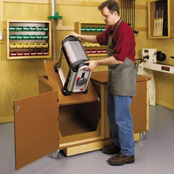 Flip-Top Work Center Woodworking Plan, Workshop & Jigs Tool Bases & Stands