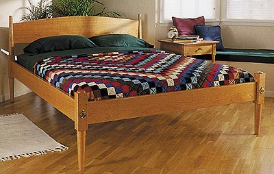 Shaker Bed Woodworking Plan, Furniture Beds & Bedroom Sets
