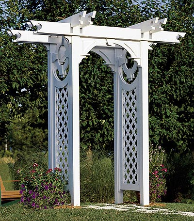 Trellised Arbor Woodworking Plan, Outdoor Backyard Structures