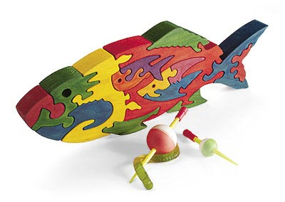 Scrollsawn Fishy Puzzle Woodworking Plan, Toys & Kids Furniture