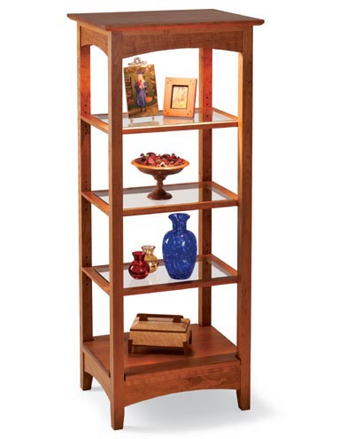 Lighted Showcase Woodworking Plan, Furniture Bookcases & Shelving