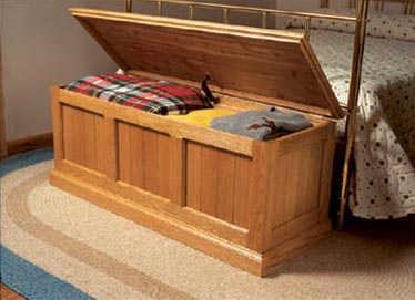 Cedar-Lined Oak Chest Woodworking Plan, Furniture Chests