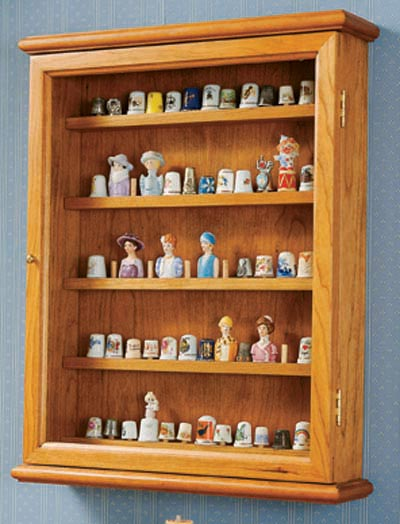 Collector showcase Woodworking Plan, Furniture Bookcases & Shelving