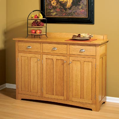 Traditional Sideboard Woodworking Plan, Furniture Cabinets & Storage