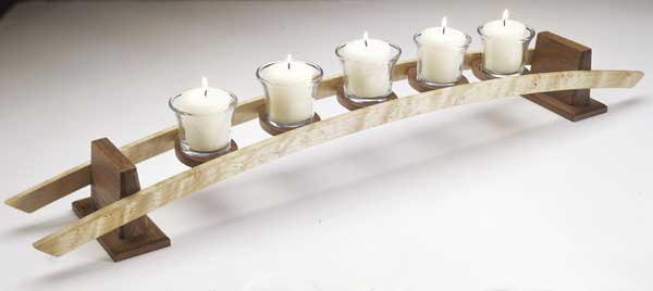 Candles on a Curve Woodworking Plan, Gifts & Decorations Lighting