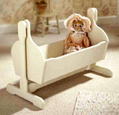 Pendulum Doll Cradle Woodworking Plan, Toys & Kids Furniture