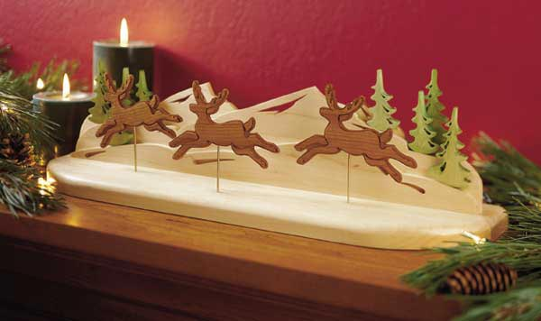 Reindeer in flight