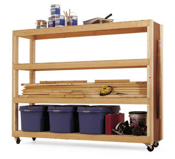 Mobile Storage Woodworking Plan, Workshop & Jigs Shop Cabinets, Storage, & Organizers Workshop & Jigs $2 Shop Plans