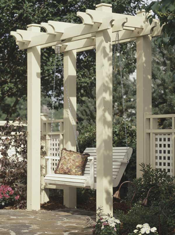 Arbor Woodworking Plan, Outdoor Backyard Structures