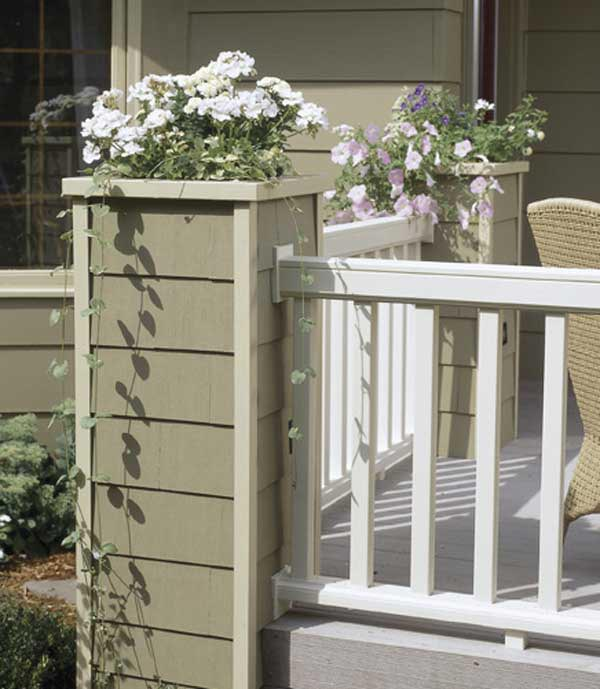 High-style deck railing