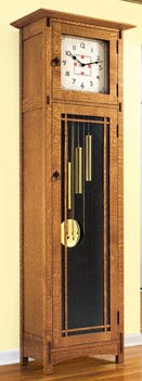 Arts and Crafts Heirloom Tall Clock Woodworking Plan, Gifts & Decorations Clocks