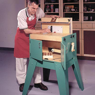All-Purpose Router Station Woodworking Plan, Workshop & Jigs Tool Bases & Stands