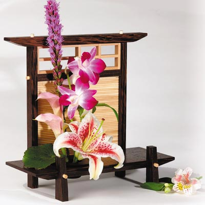 Ikebana Stand Woodworking Plan, Gifts & Decorations Lighting