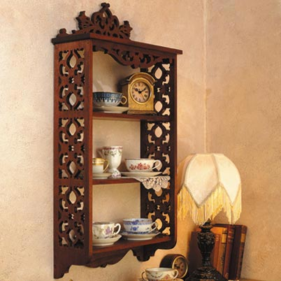 Elegant Scrollsawn Wall Shelf Woodworking Plan, Furniture Bookcases & Shelving