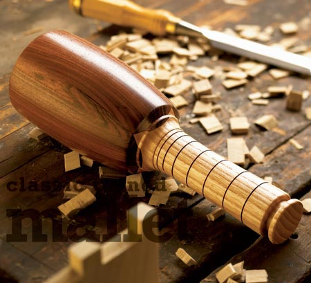 Classic turned mallet Woodworking Plan, Turning Projects Workshop ...