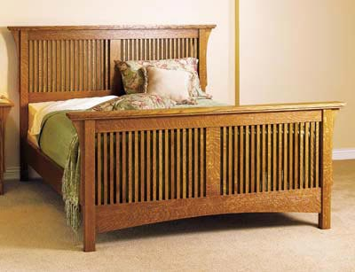 Arts Crafts Bed Mission Style Woodworking Plan From WOOD Magazine