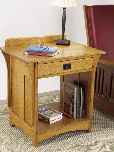 Arts and Crafts Nightstand Woodworking Plan, Furniture Beds & Bedroom Sets Furniture Tables