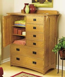 Arts and Crafts Dresser Woodworking Plan, Furniture Beds & Bedroom Sets