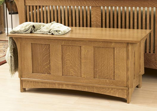 Arts and Crafts Blanket Chest Woodworking Plan, Furniture Chests