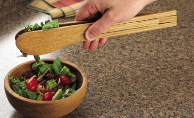 Salad Tongs Woodworking Plan, Gifts & Decorations Kitchen Accessories
