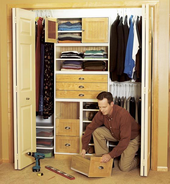Super-flexible closet storage system Woodworking Plan, Furniture Cabinets & Storage