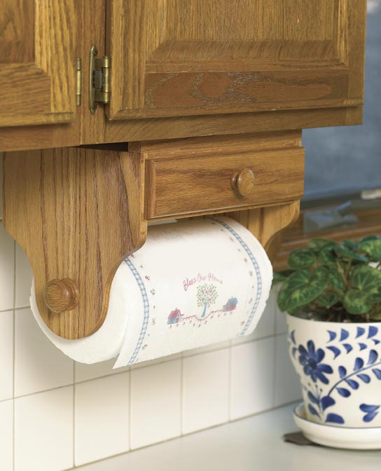 Paper Towel Holder Woodworking Plan, Gifts & Decorations Kitchen Accessories