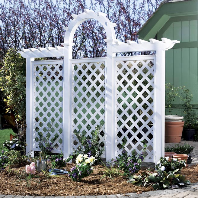 Arched Trellis Woodworking Plan, Outdoor Backyard Structures