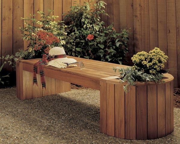 Planter/Bench Combo Woodworking Plan, Outdoor Outdoor Furniture Outdoor Planters