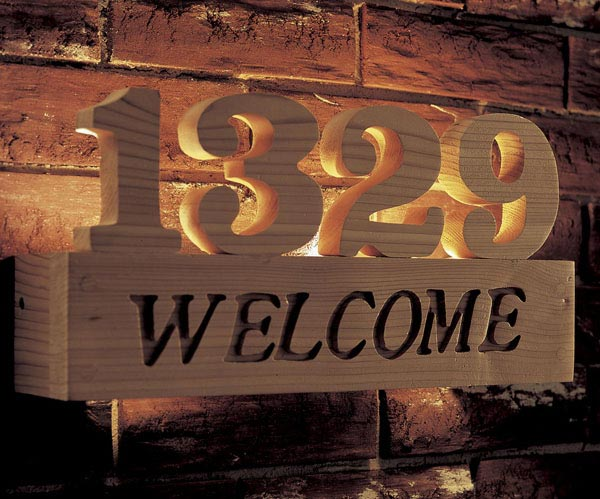 Welcome sign Woodworking Plan, Outdoor Outdoor Accessories