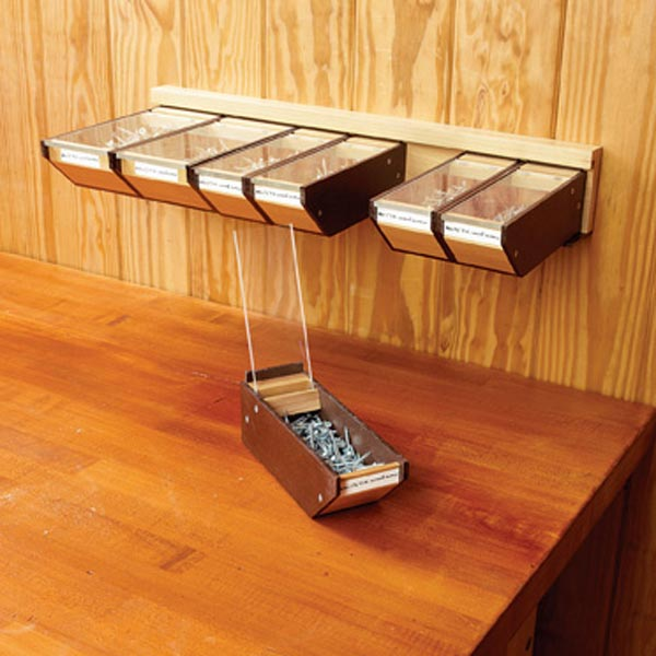 Take-anywhere Hardware Bins Woodworking Plan, Workshop & Jigs Shop Cabinets, Storage, & Organizers