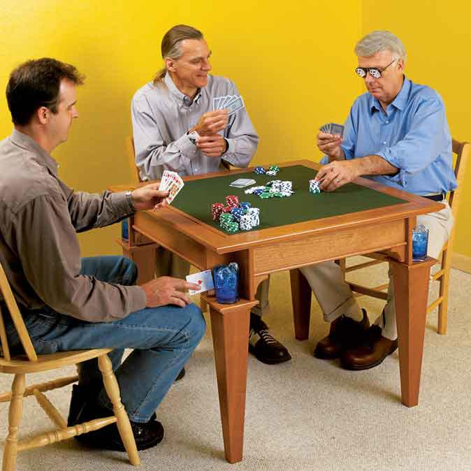 Game Table Woodworking Plan, Furniture Tables