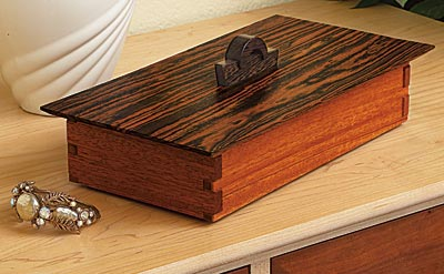 Tabletop Treasure Box Woodworking Plan, Gifts & Decorations Boxes & Baskets