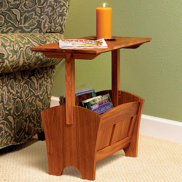 Jim Woodworking Plan Magazine Rack