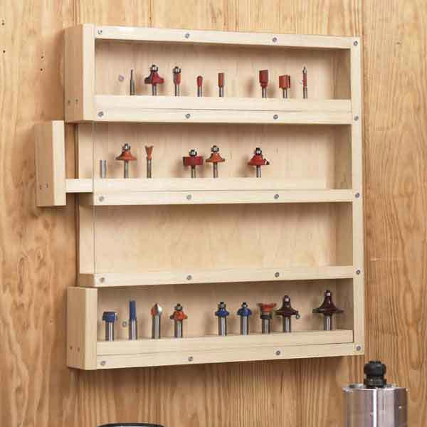 Easy-Access Router-Bit Organizer Woodworking Plan, Workshop & Jigs Shop Cabinets, Storage, & Organizers