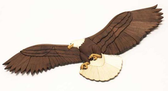 Regal Eagle, an Intarsia showpiece Woodworking Plan, Gifts & Decorations Scrollsaw, Carving, & Decorative Projects
