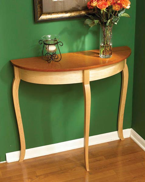 Simply graceful bow front table Woodworking Plan, Furniture Tables