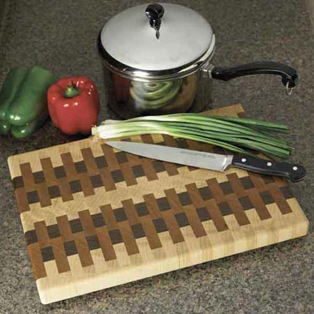 End-grain cutting board Woodworking Plan, Gifts & Decorations Kitchen Accessories