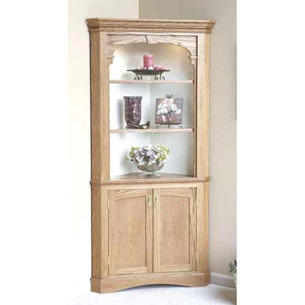 Heirloom Corner Cabinet Woodworking Plan, Furniture Cabinets & Storage