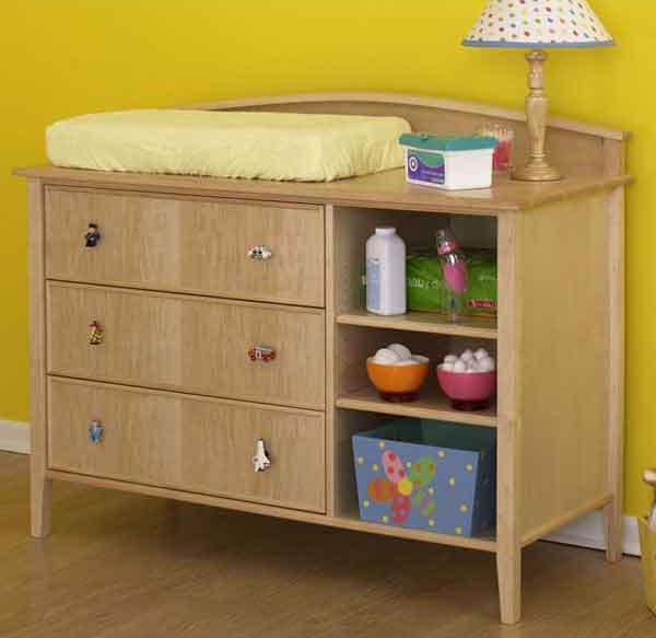 Double-duty changing table/dresser Woodworking Plan, Furniture Beds & Bedroom Sets Toys & Kids Furniture