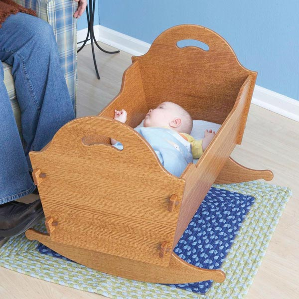 Heirloom Cradle with Storage Box Woodworking Plan, Toys & Kids Furniture