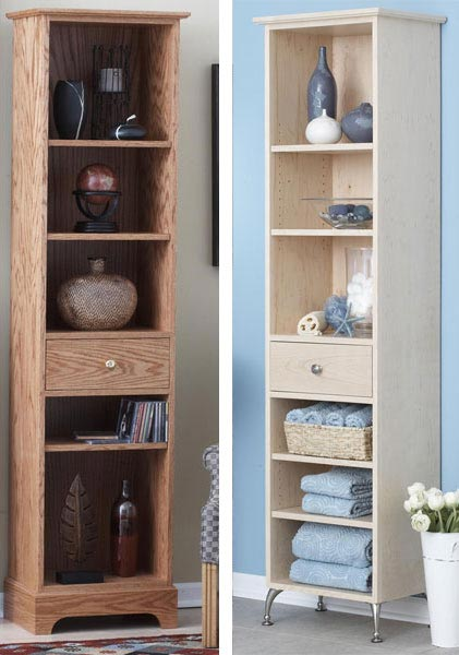 Slender-and-Simple Tower Shelves Woodworking Plan, Furniture Bookcases & Shelving