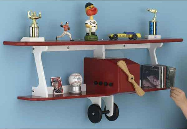 Plane-fun Kid's Shelf Woodworking Plan, Furniture Bookcases & Shelving Toys & Kids Furniture