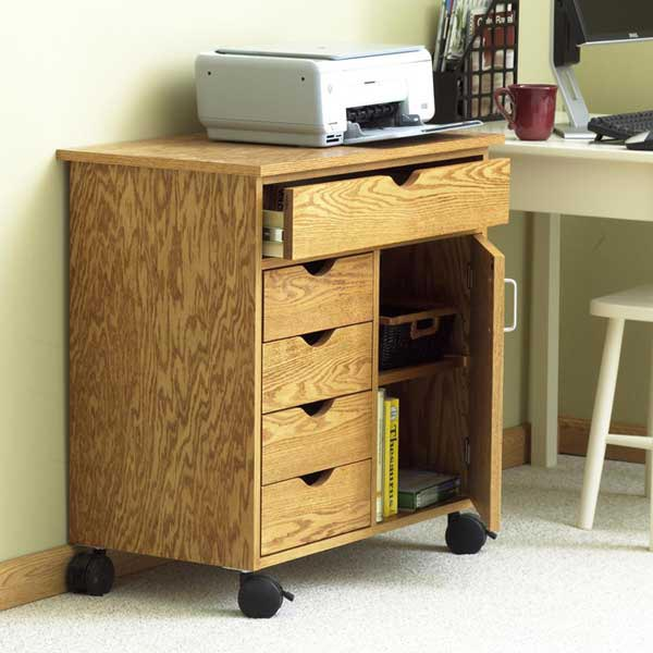 Home/Shop Storage Cart Woodworking Plan, Furniture Cabinets & Storage