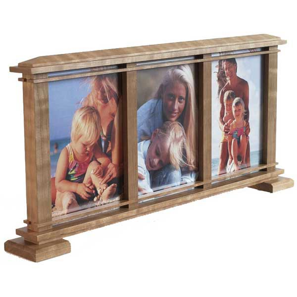 Three-Window Photo Frame Woodworking Plan, Gifts & Decorations Picture Frames