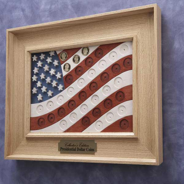 Presidential Coin Flag Woodworking Plan, Gifts & Decorations Picture Frames Gifts & Decorations Scrollsaw, Carving, & Decorative Projects