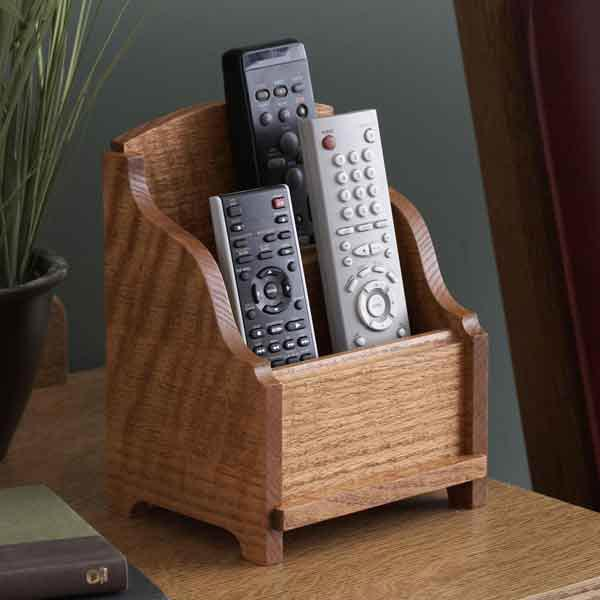 Remote Control Holder Woodworking Plan from WOOD Magazine