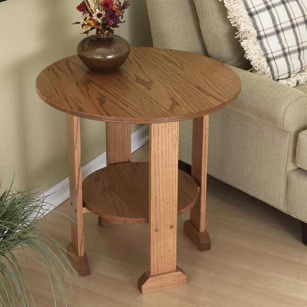 Mission End Table Woodworking Plan, Furniture Tables