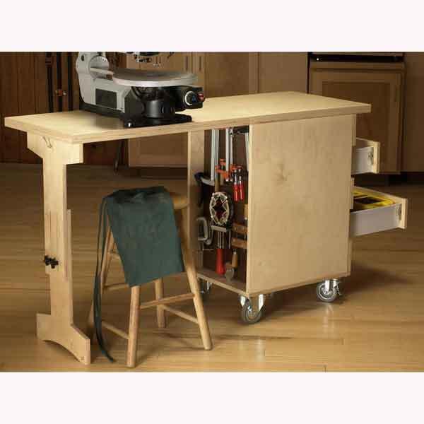 Shop Cart/Workbench Woodworking Plan, Workshop & Jigs Workbenches