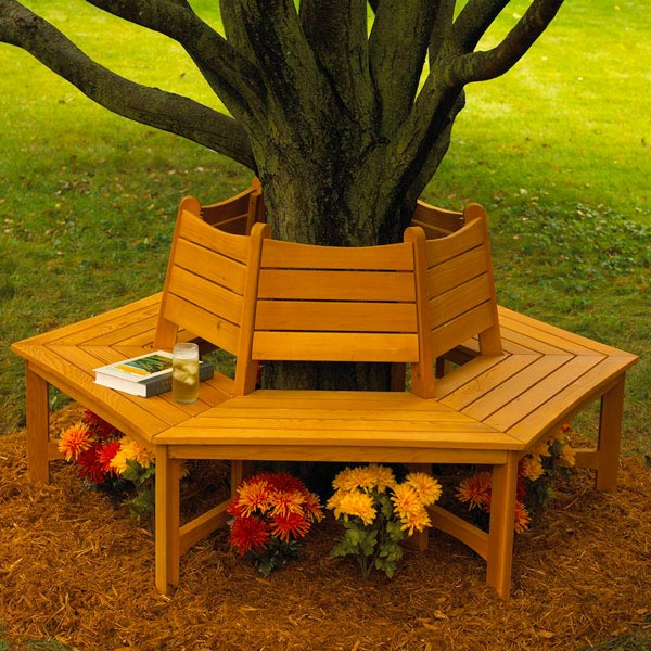 Made in the Shade Tree Bench Woodworking Plan, Outdoor Outdoor Furniture